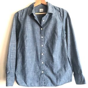 J Crew Classic Button down shirt chambray
